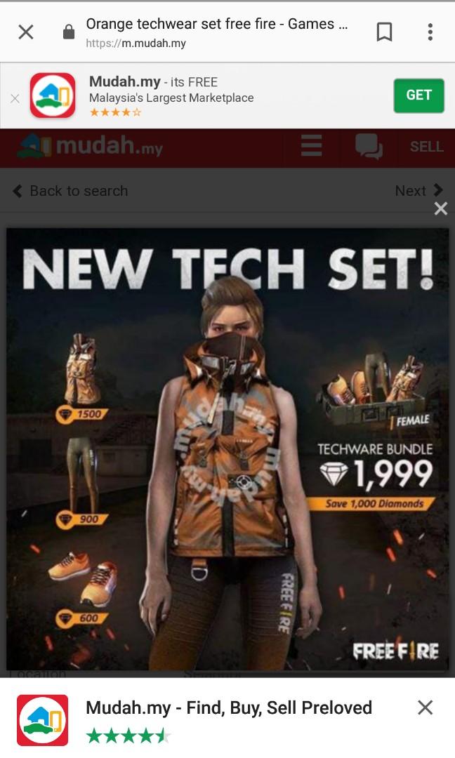 Freefire orange techwear set !