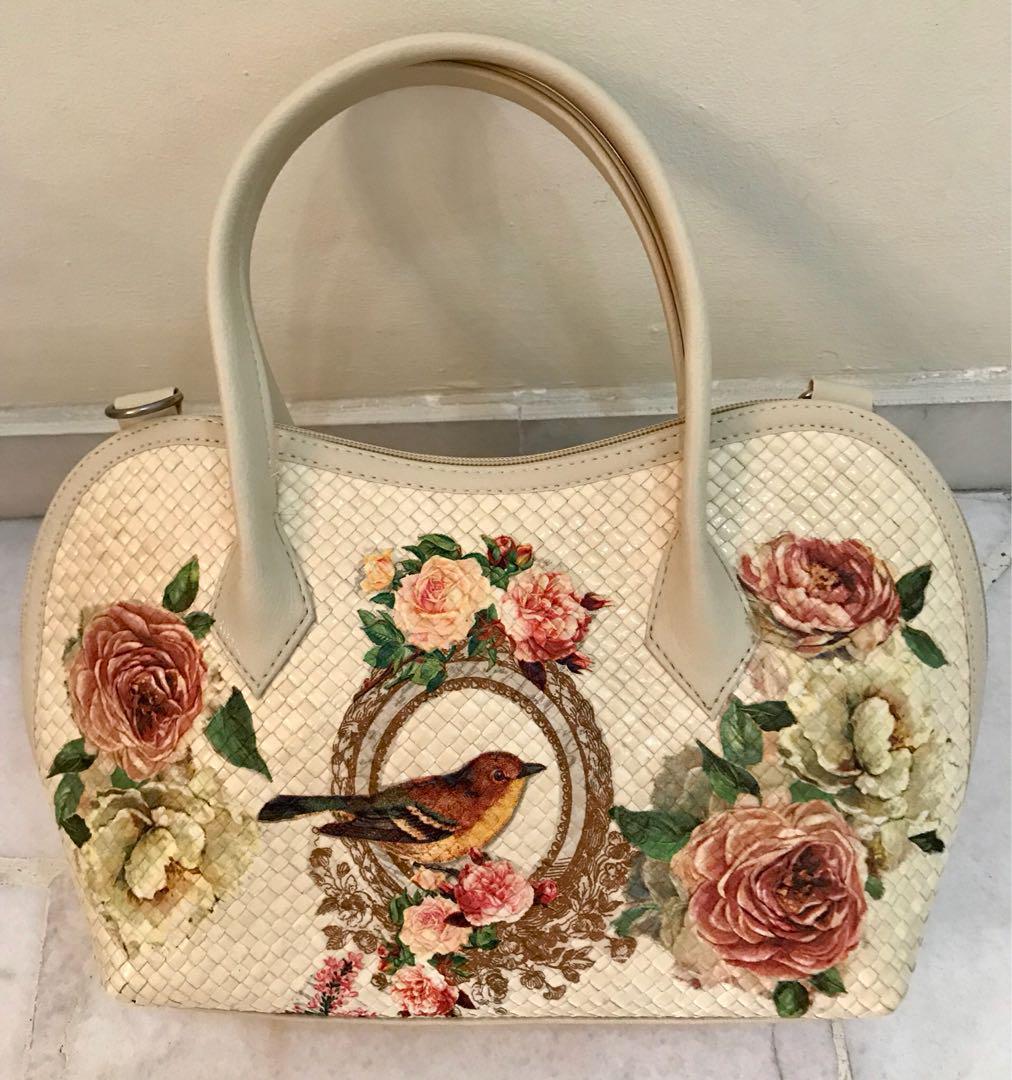 Handmade peranakan Decoupage bag, Women\u0027s Fashion, Bags