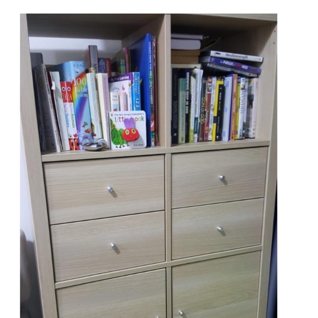 huge selection of 2b348 9f131 IKEA KALLAX SHELVING UNIT (2 DRAWERS, 4 DOORS, 2 OPEN ...