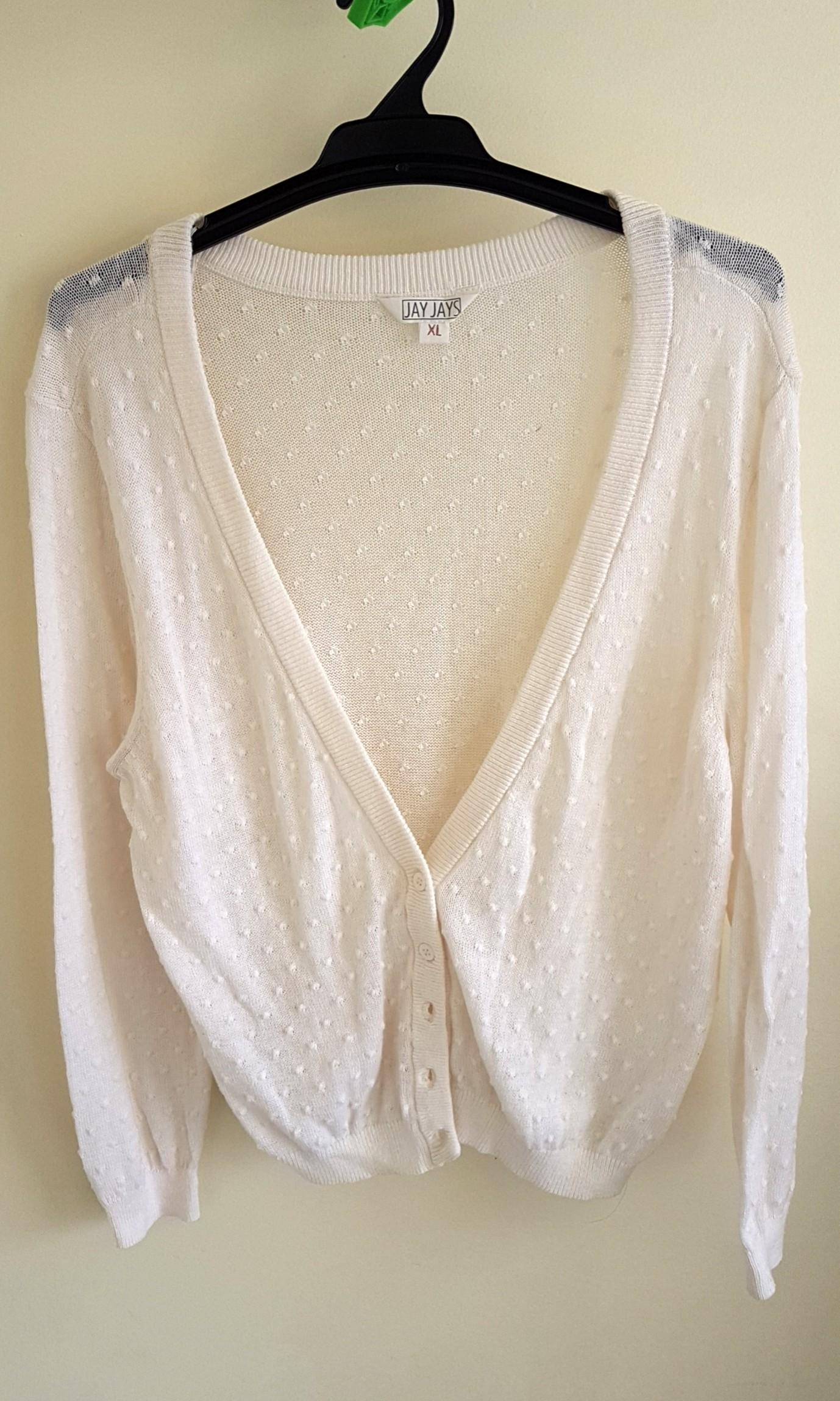 Jayjays beige cotton cardigan