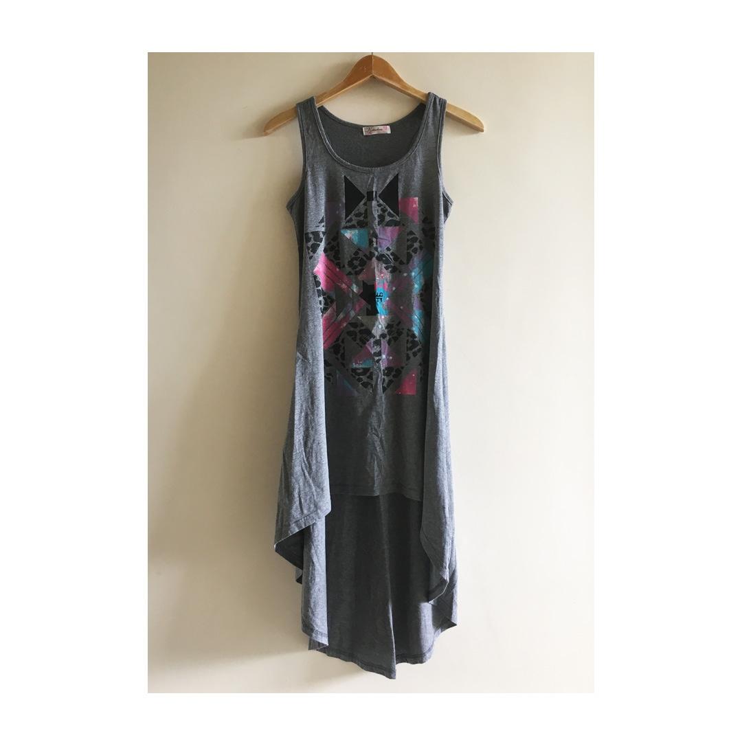 baae9e3c4 KITSCHEN Hello Kitty Hi-Lo Maxi Dress, Women's Fashion, Clothes ...