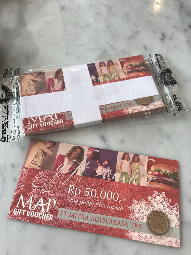 10 Lembar Voucher Mitra Adi Perkasa Map Harga Terkini Dan Terlengkap Gift Original Asli Pecahan 100rb 100000 Ori Tiket Kartu Hadiah