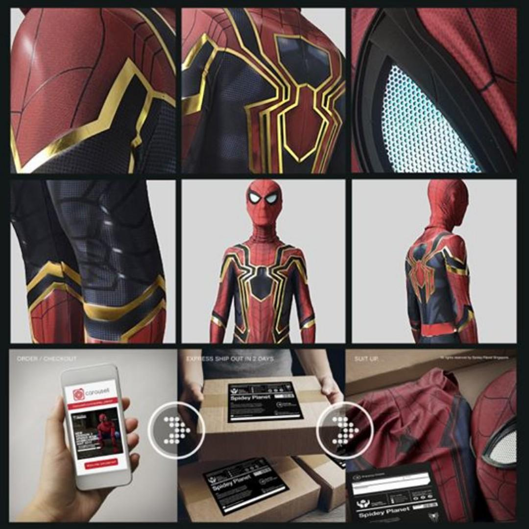 New Iron Spider-man (MCU Series) Suit with gold printing