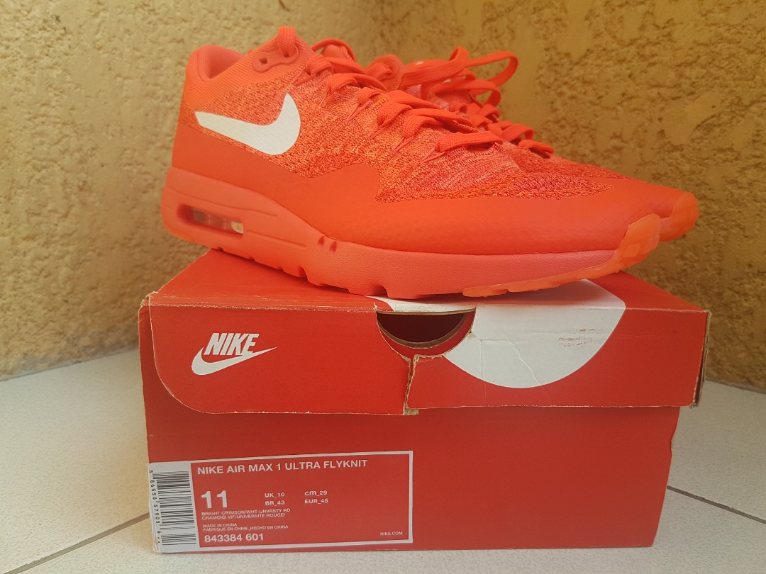 799325190a Nike Air Max 1 Ultra Flyknit, Men's Fashion, Footwear, Sneakers on ...