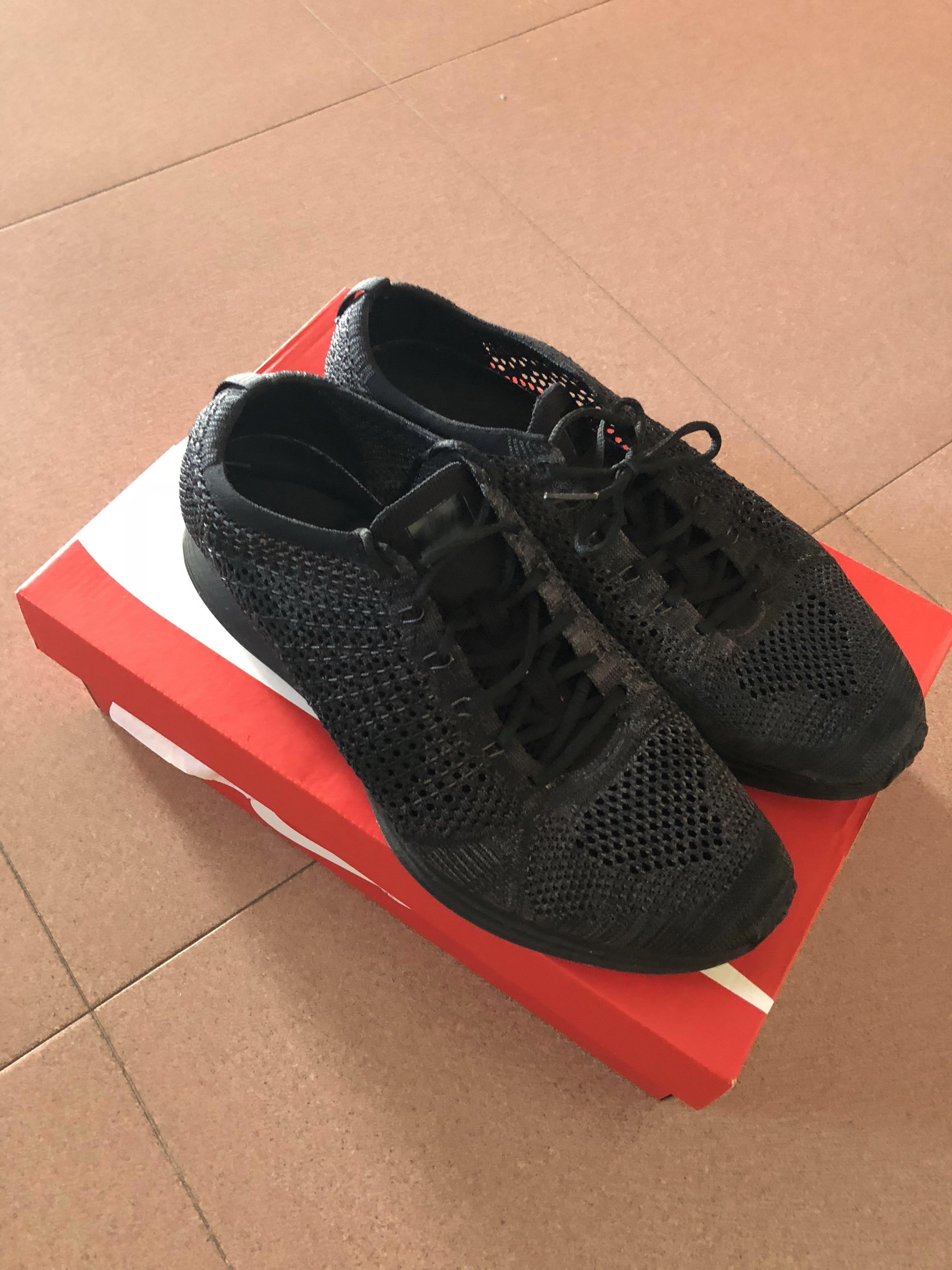 2745a2e35bd6 Nike Flyknit Racer Triple Black