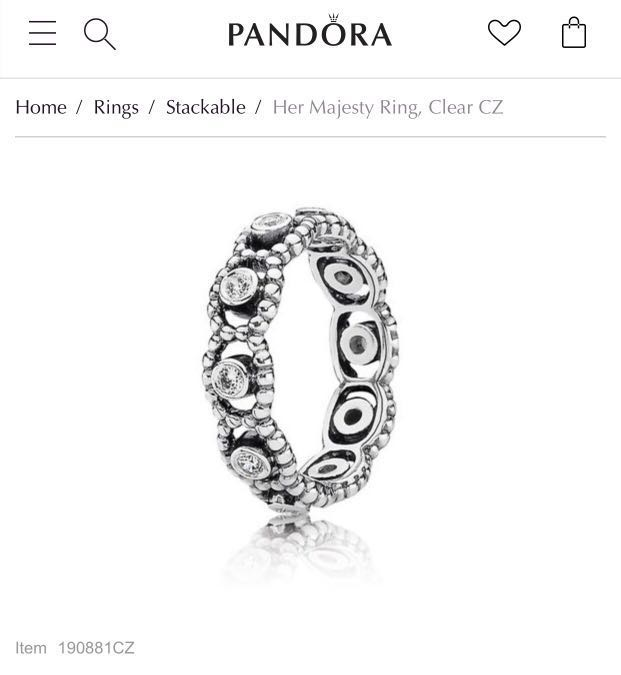 eb545464e ... discount code for pandora her majesty ring size 48 womens fashion  jewelry on carousell 5b067 0b5d3