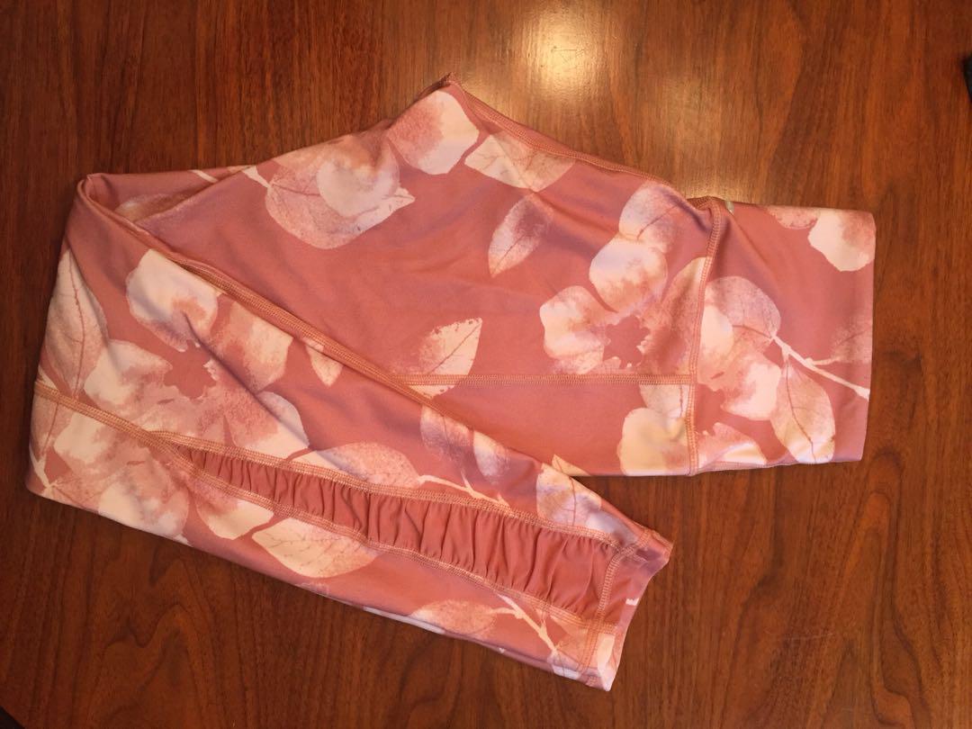 Pink floral aerie leggings