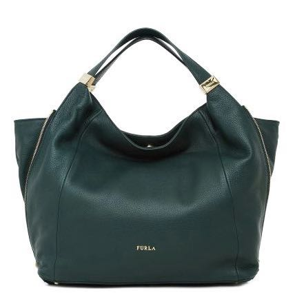 49cad8d755ed8a Price reduced: Authentic Furla Hobo Bag in Dark Green, Women's ...