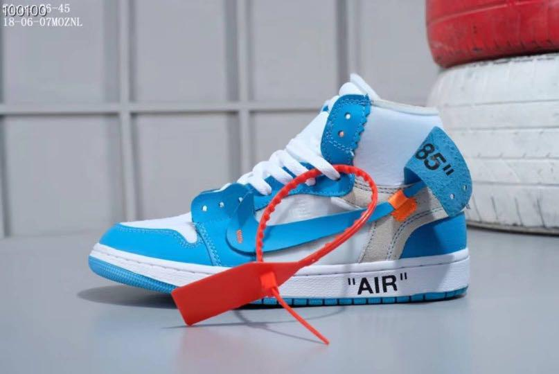 Replica Nike Air Jordan 1 UNC X Off