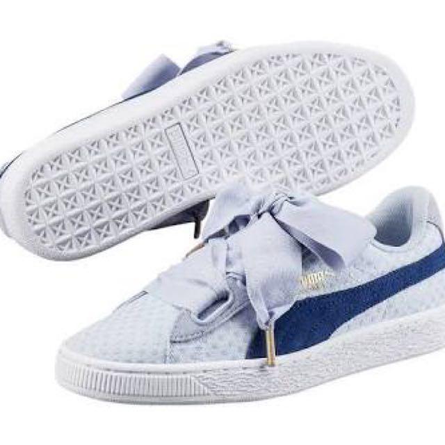 Sepatu Sneakers Casual Puma Basket Heart Denim ORIGINAL Fesyen Wanita Di Carousell