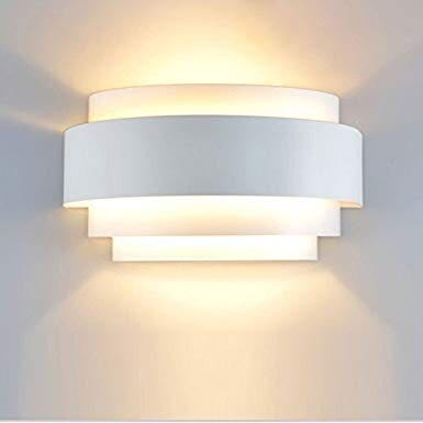 4f52c235fad1 Unimall LED White Wall Lights Up Down Bedside Wall Sconce E27 Lamp ...