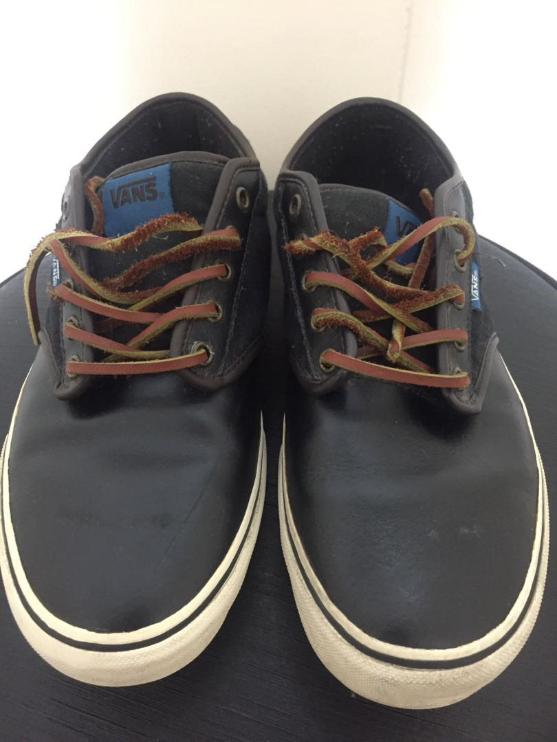 c4ce3fa938 Vans Atwood Leather Black Brown