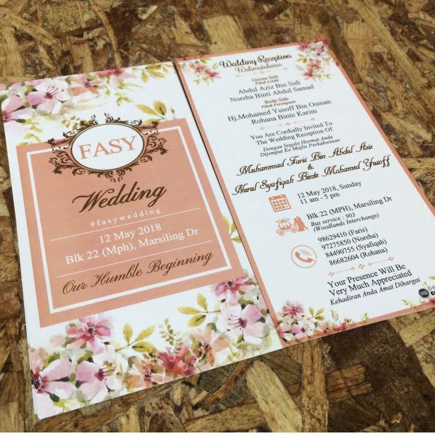 Wedding Invitation Card Singapore Jb Services Others On
