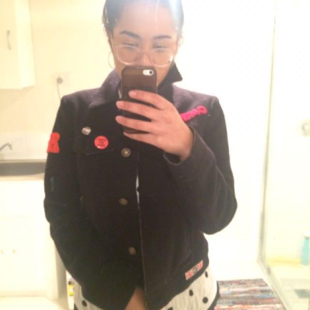 Wool Felt Patch Jacket