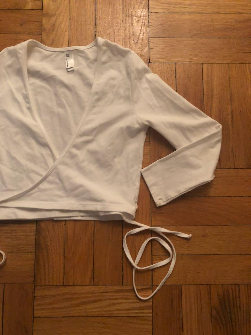 XS American Apparel wrap around crop top