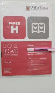 ICAS 2012 ENGLISH PAPER H FOR SECONDARY 3