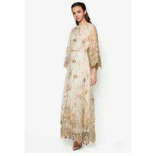 Zalia embroidered flare dress