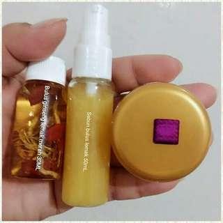 Paket minyak bulus ginseng merah original papua sabun dan cream payudara