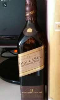 陳年Johnnie Walker 18年威士忌200ml no box.