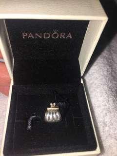 Pandora two-tone bag charm