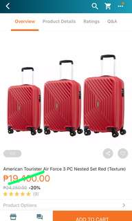American Tourister 3-pc Luggage set