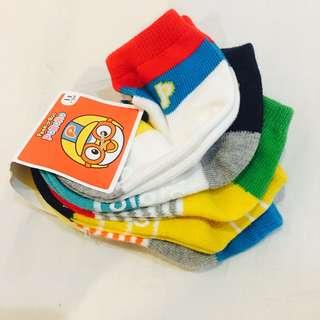 Pororo Korean Boy Socks 5in1