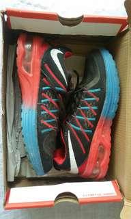 Sepatu NIKE AIRMAX red blue black / hitam merah biru preloved laki-laki