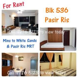 5A - Blk 536 Pasir Ris Drive 1 (Mins to White Sands & Pasir Ris MRT)