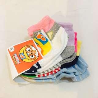 Pororo Korean Girl Socks 5in1