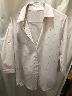 🚚 七分袖襯衫 米白色