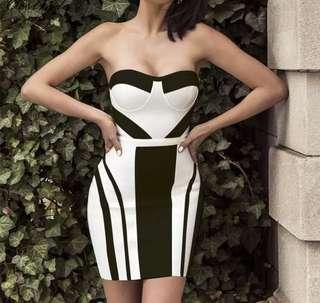PO - Sexy Bustier Bodycon Bandage Dress (2 colors)