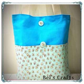 Bluey floral tote bag