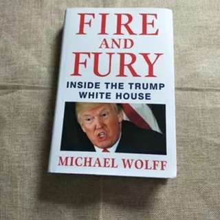 🚚 FIRE AND FURY: INSIDE THE TRUMP WHITE HOUSE BY MICHAEL WOLFF (FREE DELIVERY)