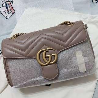可議價‼️可分期‼️全新Gucci marmont 26公分 稀有藕粉色❤️