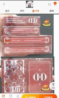 美国 DD Smoke Mirrors 烟与镜紅色扑克牌 V6 花切收藏