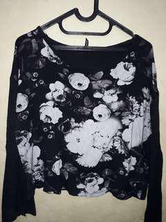 Baju Crop floral