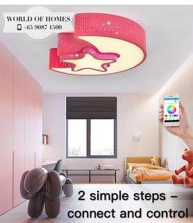 [MOON & STAR 🌟]in 1 LED ceiling light + music speaker  (MOBILE APP CONTROL)