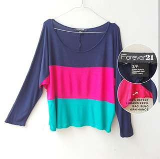 Forever 21 3Tone Loose Shirt