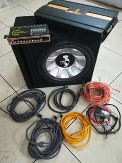 Mohawk 12' Woofer and amplifier full det