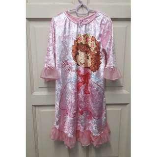Strawberry Shortcake velvet princess dress 6y
