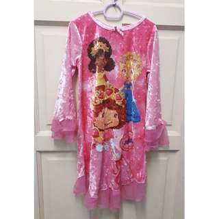 Strawberry Shortcake velvet princess dress 6y (authentic)