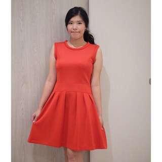 Dress imlek merah prom gaun import branded red premium