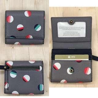 fossil sofia mini wallet dot