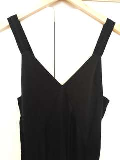 H&M Black Slip style dress with side slits