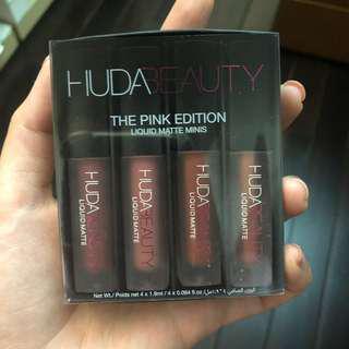 Huda liquid lipstick pink edition