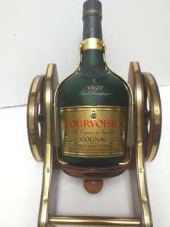 舊酒收藏7-80年代拿破崙vxop干邑連炮架7ooml