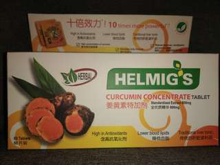 Helmig's Curcumin Concentrate Tablet x 60s