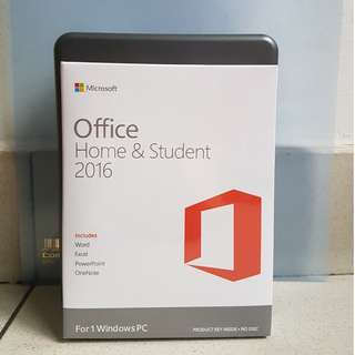 MICROSOFT OFFICE 2016 HOME AND STUDENT RETAIL SET
