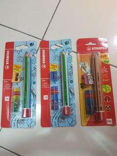 Stabilo trio pencil set ( rm6 each)