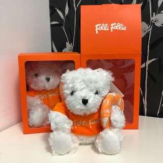 🚚 Folli Follie 泰迪熊 (玫瑰絨材質熊熊的毛超舒服)